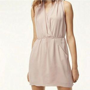 Aritzia Wilfred pink Sabine wrap front mini dress